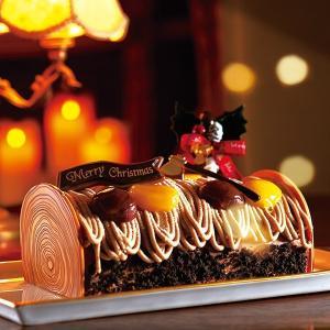 【予約終了いたしました】2018ブッシュ・ド・ノエル、約18cm×h8cm、2種類のマロン、なめらかなマロンクリーム、【店鋪受取】 monterosa-cake