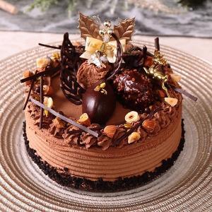 【予約終了いたしました】2018クリスマス チョコレート、直径約15cm、ベルギー産クーベルチュール、贅沢で濃厚、【店鋪受取】 monterosa-cake
