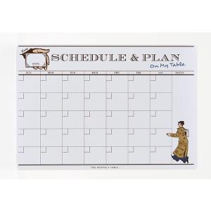 SCHEDULE & PLAN (月間スケジュール) 剥がせる 書ける ステッカー 予定表|mony