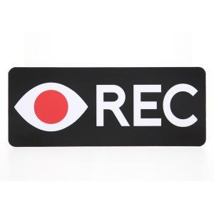 ドライブレコーダーステッカー 赤目REC 防犯 煽り防止|mony