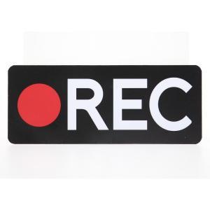 ドライブレコーダーステッカー REC 防犯 煽り防止|mony