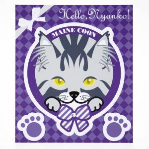 猫 ステッカー Hello,Nyanko! メインクーン|mony