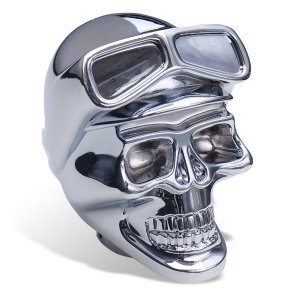 Chrome Skull with Goggle シフトノブ|mooneyes