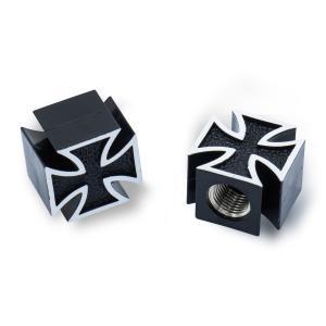 Iron Cross Black エア バルブ キャップ mooneyes