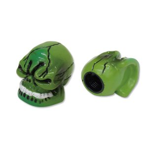 Green Skull エア バルブ キャップ|mooneyes