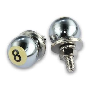 クローム 8ボール ライセンス ボルト|mooneyes