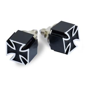 Iron Cross Black  ライセンス ボルト|mooneyes