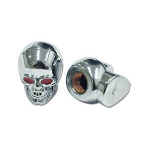 クローム Skull エア バルブ キャップ|mooneyes