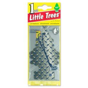Little Tree エアー フレッシュナー ピュア スティール|mooneyes