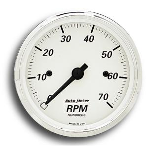3 1/8インチ 7/000 RPM タコメーター(電気式)ブラック ポインター|mooneyes