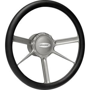 Budnik Steering Wheel Tungsten|mooneyes