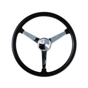 Bell Style Steering Wheel ノーホール 3スポーク 34cm mooneyes