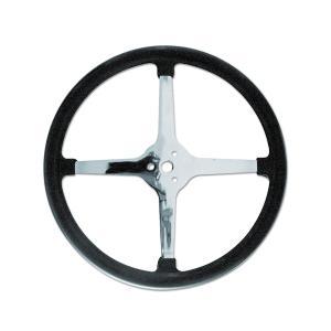 Bell Style Steering Wheel ノーホール 4スポーク 43cm|mooneyes
