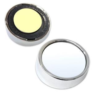 Chrome Twin Pack ブラインド スポット ミラー 2インチ|mooneyes