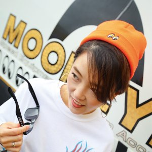 MOON ショート ビーニー キャップ S|mooneyes