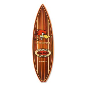 Clay Smith Woodie Surfboard メタル サイン|mooneyes