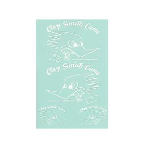 CLAY SMITH  (クレイ スミス)  抜きステッカー セット <ホワイト>|mooneyes