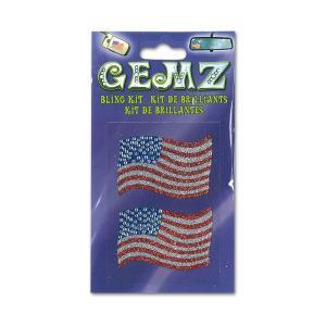 GEMZ ブリング・キラキラ ステッカー Stars and Stripes|mooneyes