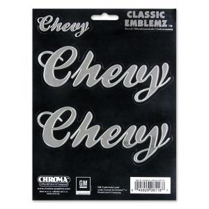 Chevy (シェビー) スクリプト CLASSIC EMBLEMZ デカール|mooneyes