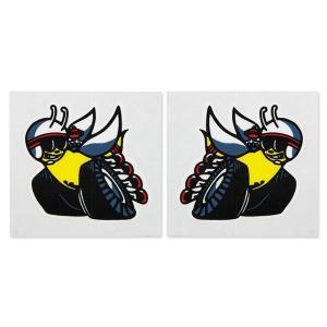 ホットロッド ステッカー 70 SCAT PACK Window Bees ペアステッカー|mooneyes