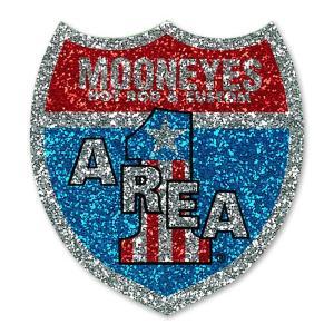 MOON Area-1 トリコロール ステッカー|mooneyes