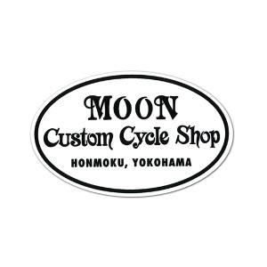 MOON Custom Cycle Shop ステッカー|mooneyes