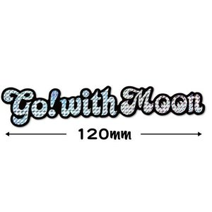 ムーンアイズ (MOONEYES) Go with MOON プリズムステッカー Sサイズ|mooneyes