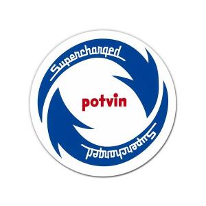 POTVIN Supercharged Sticker|mooneyes