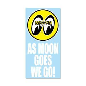 As MOON Goes We Go ステッカー (抜きタイプ)|mooneyes