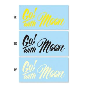 Go with MOON ステッカー (抜きタイプ)|mooneyes