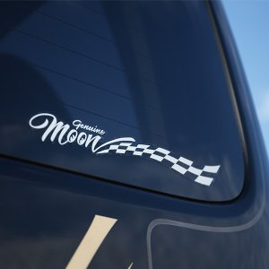 ムーンアイズ (MOONEYES) Genuine MOON Checker ステッカー|mooneyes