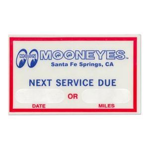ムーンアイズ (MOONEYES) MOON Next Service Due ステッカー|mooneyes