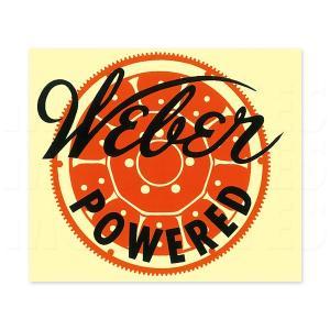 ホットロッド Weber Powered ステッカー|mooneyes