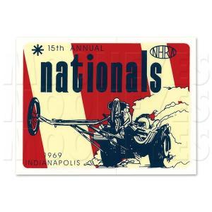 ホットロッド ステッカー 1969 NHRA INDIANAPOLIS NATIONALS|mooneyes