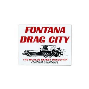 FONTANA DRAG CITY ステッカー【裏貼りタイプ】|mooneyes