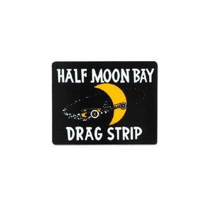 HALF MOON BAY DRAG STRIP ステッカー【裏貼りタイプ】|mooneyes