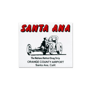 Santa Ana Drag Strip ステッカー|mooneyes