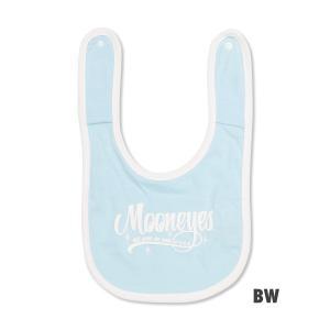 MOONEYES ロゴ Baby エプロン (スタイ・ビブ)|mooneyes