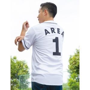 Area-1 ベースボール シャツ|mooneyes