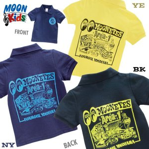 MOONEYES Area-1 キッズ ポロシャツ|mooneyes