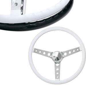 ムーンアイズ オリジナル フィンガー グリップ ステアリング ホイール 38cm ホワイト|mooneyes