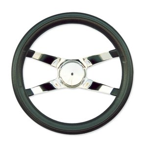 4 Spoke No Hole Racing Steering Wheel 30cm|mooneyes
