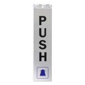メタル サイン プレート ステッカー PUSH (押す)|mooneyes