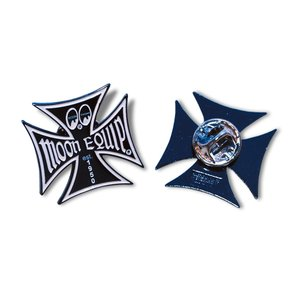 MOON Equipped (ムーン イクイップド)   Iron Cross Pin|mooneyes