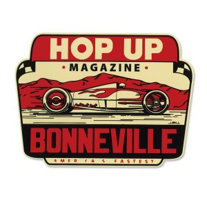 Hop Up magazine Bonneville デカール (水張り)|mooneyes