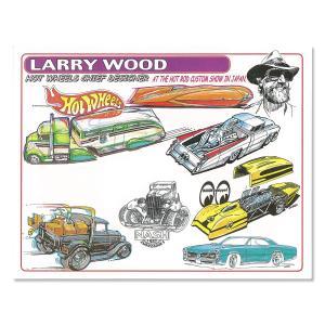 ムーンアイズ Larry Wood デザイン ホット ウィール ハンドアウト|mooneyes