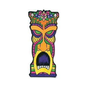 Hawaii Flower Head Orange Tiki Patch|mooneyes