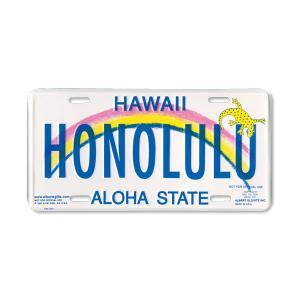 Hawaii ライセンス プレート HONOLULU|mooneyes