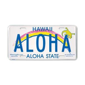 Hawaii ライセンス プレート ALOHA|mooneyes
