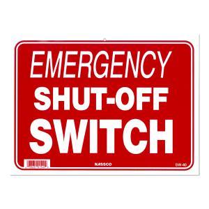 緊急停止 EMERGENCY SHUT-OFF SWITCH メッセージ プレート|mooneyes